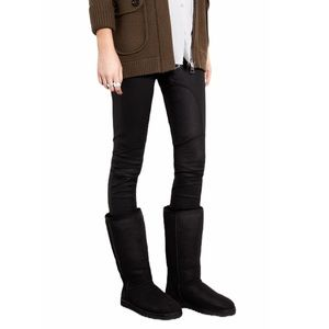 UGG Classic Tall Black Suede Winter Boots